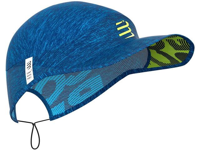 Compressport Pro Racing Casquette, blue/melange